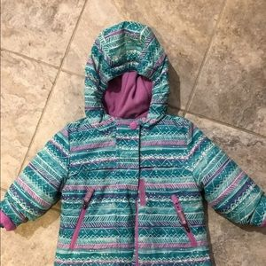 12 month winter coat, removable fleece layer